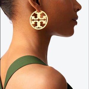 Tory Burch miller hoop earrings